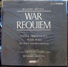 Britten/Vishnevskaya/Fischer-Dieskau   War Requiem   2 lps  FFSS London