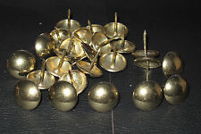 50 Large Antique Brass effect  upholstery nails , Decorative domed studs 19mm