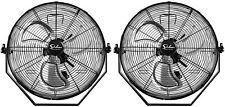 """2 只装简单 Deluxe 18"""" 工业壁挂式风扇 3 速通风金属风扇"""