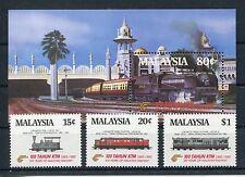 Malaysia 304/06 Block 3 postfrisch / Eisenbahn ...........................1/1204