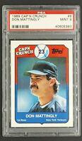 1989 Topps Cap'N Crunch Don Mattingly PSA 9 POP 14 *Only 11 Graded Higher*