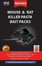 RENTOKIL MOUSE&RAT KILLER PASTA BAIT 10 SACHET PACK    NEW IMPROVED FORMULATION