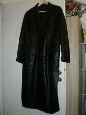 Damen-Ledermantel schwarz von ZERIMAR Gr. 40 Gothic, Punk, Rave