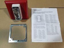 Edwards Systems Technology EST 757-7A-RS70 Fire Alarm Speaker/Strobe, 70V, Red