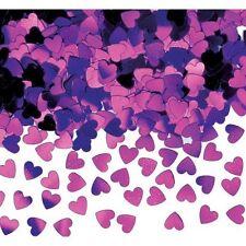 Corazones púrpura Sparkle Confeti De Mesa chispas Púrpura Decoraciones de mesa de fiesta