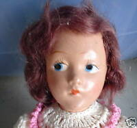 Vintage Composition Red Hair Girl Character Doll LOOK