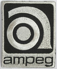 Vintage Style Ampeg Patch, embroidered, iron on, musicians, amps, bands