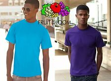 STOCK 5 PEZZI T-shirt FRUIT OF THE LOOM maglietta manica corta UOMO RAGAZZO #