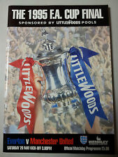 1995 FA CUP FINAL EVERTON v MANCHESTER UNITED