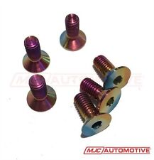 M5 X 12mm NEO CHROME TITANIUM STEERING WHEEL ALLEN BOLTS SCREWS MOMO OMP SPARCO
