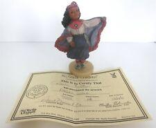 """All God'S Children 6"""" Angel Wolf Native American Girl Figurine W/ Coa & Box"""
