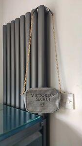 Victoria's Secret Glitter Grey Mini Shoulder Bag Size 20 x 15 x 7.5cm *VGC*