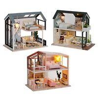 DIY Wooden Miniature Dollhouse 1:24 Handmade Doll House Model Building Kits Toys