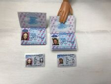 New ListingMiniature Barbie Happy Family Midge And Alan Passport And Passport Id Card