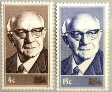 Rsa Sudáfrica South Africa 1975 469-70 presidente del estado los políticos Diederich mnh