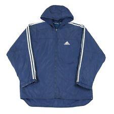 Vintage ADIDAS Hooded Jacket | Coat Retro 90s Stripes Zip