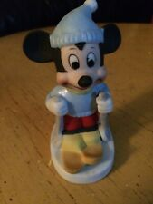 Disney Mickey Mouse On Skis Skiing Ceramic Figurine disney mickey on skis
