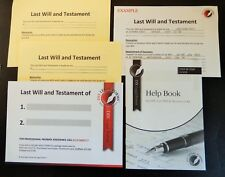 LAST WILL AND TESTAMENT KIT, 2019 NEW Edition, SUITABLE for 1 or 2 PERSONS.