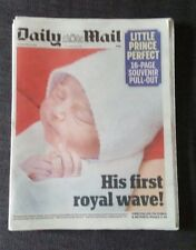 Daily Mail Newspaper Apr 24 2018 Royal Birth Little Prince Perfect Kate and Will