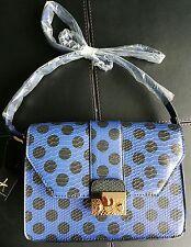 New Blue Spot Snake Effect Shoulder Bag