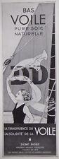 PUBLICITÉ DE PRESSE 1935 BAS VOILE DORÉ-DORÉ PURE SOIE NATURELLE - ADVERTISING