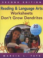 Reading and Language Arts Worksheets Don′t Grow Dendrites: 20 Literacy St
