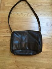 Perlina Messenger Bag, Chocolate Brown Leather Cross Body Bag. Large Size