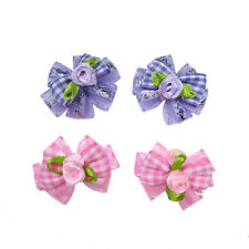 Beautiful Pet Dog Cat Flower Hair Bows For Dog Wedding Dog Hair Accessories