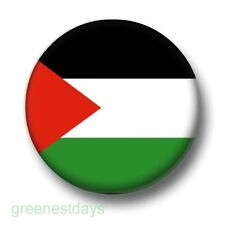 Palestine 1 Inch / 25mm Pin Button Badge Palestinian Gaza West Bank Pride Flag