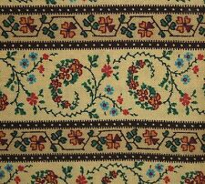 Exclusively for Jo-Ann Fabric Stores Small Striped Floral Brown Rust BTY OOP