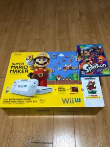 Nintendo Wii U Super Mario Maker Console 30th set & Splatoon game soft
