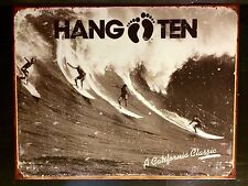 Hang Ten Surf BIG WAVE Tin Sign California Classic Vintage metallo Wall Decor