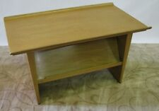 Rare Ed Wormley for Dunbar Side Table & Magazine Rack With Rolled Edge Top