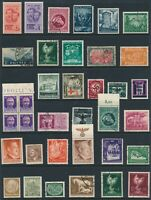 Lot Stamp Germany Italy Eritrea Poland Bulgaria WWII War Hitler Azad Mixed