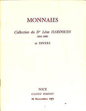 CATALOGUE VENTE MONNAIES COINS MUNZE COLLECTION LEON HARDOUIN 1975