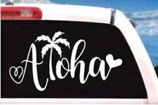 ALOHA HEART HAWAIIAN Vinyl Decal Sticker - Car Truck Window Wall SUV laptop
