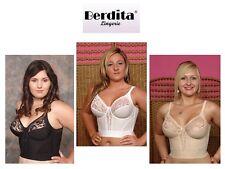Berdita B Classic Retro Control Longline Bra 15126 In Black White Or Beige Nude