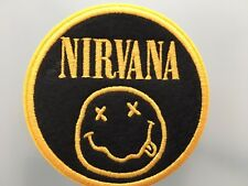 """NIRVANA LOGO Embroidered Iron On Patch 3 """""""