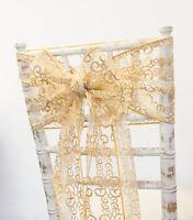 CHRISTMAS GOLD METALLIC SWIRL BRONZING SASHES ,HOODS OR TABLE RUNNERS XMAS TABLE