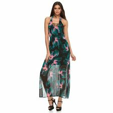 91211e2dd5f6 Jennifer Lopez Floral Halter Maxi Dress Size 10p 10 Petite