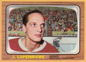 1966-67 TOPPS # 67 JACQUES LAPERRIERE CANADIENS MONTREAL PSA MAYBE