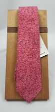 NWT ISAIA NAPOLI HAND MADE IN ITALY 7 FOLD TIE RED/GRAY/WHITE FABULOUS