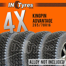 4x 265/70R16 Advantage All Terrain Tyres 265 70 16 AT x4 Fitting Available