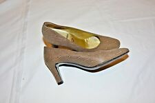 Bruno Magli Women's Brown Leather Textured High Heel Pumps Size 7AAA