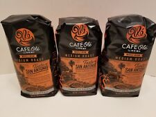 HEB Cafe Ole Coffee WHOLE BEAN San Antonio, 12-Ounce Bags 3 Pack FREE Shipping