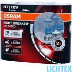 H7 OSRAM Night Breaker UNLIMITED +110% Scheinwerfer Lampe DUO-Box-Pack NEU
