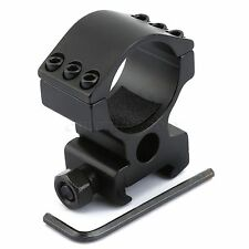 High Profile 30mm Ring Mount 20mm Picatinny Rail Rifle Scope 6 Bolts Mount