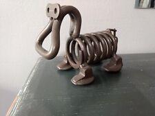 Scrap metal art hippo dog animal sculpture