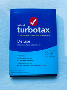 Intuit TurboTax Deluxe 2019 Federal + State - PC/Mac - w. Official Access Code