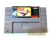 Dragon the Bruce Lee Story SNES Super Nintendo Game Tested + Working & Authentic